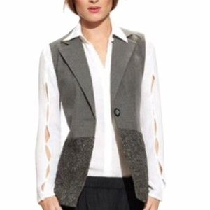 CAbi style #589 White button down blouse XS